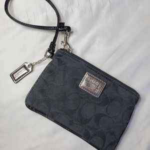Coach poppy black wristlet